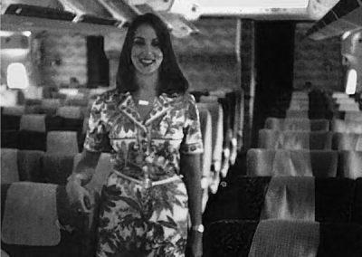 Qantas flight hostess.