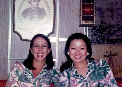 Qantas flight hostesses.