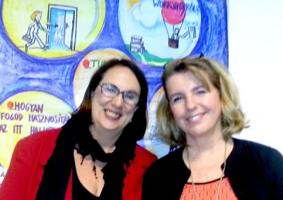 Janet & Judith at Coaching without Borders Conference Hungary.