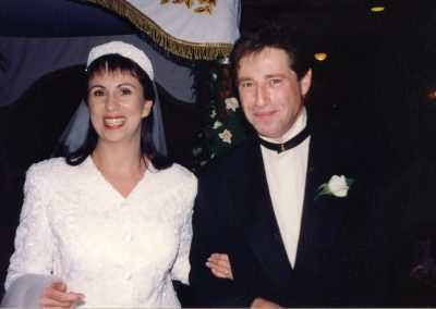 Getting married in 1994 at the Great Synagogue, Sydney.