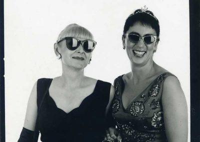 Fellow fashionistas, Hanna Wegner and I dressed as our favorite movie stars, Audrey & Elizabeth.