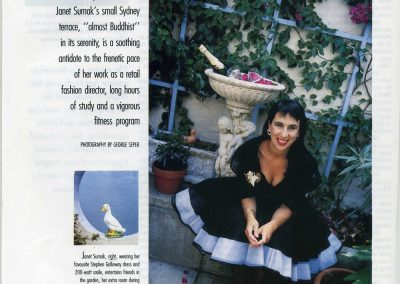 Featured in Vogue Magazine.