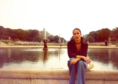 Qantas slip time in Paris, my most favorite city, early 1970's.