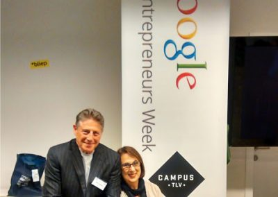 Barry and I at Google in tel Aviv, Israel.