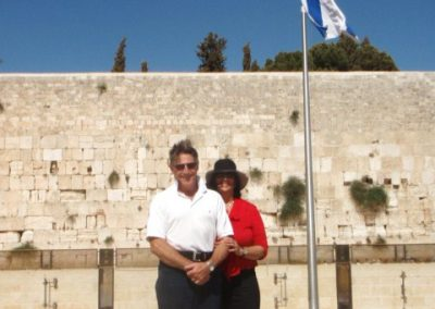 Barry and I at the Western Wall in Jerusalem.