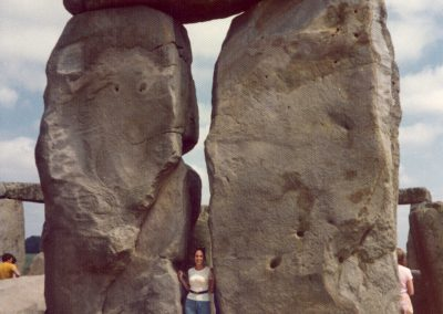 Stonehenge visit, London slip, early 1970's